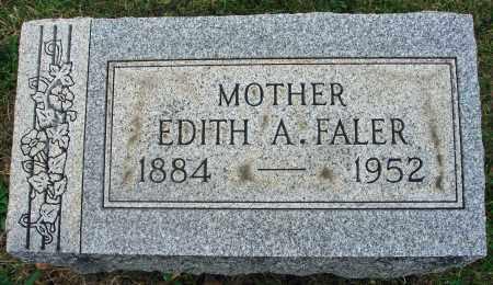 FALER, EDITH A. - Fairfield County, Ohio | EDITH A. FALER - Ohio Gravestone Photos