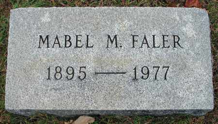 FALER, MABEL M. - Fairfield County, Ohio | MABEL M. FALER - Ohio Gravestone Photos