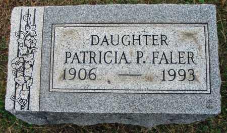 FALER, PATRICIA P. - Fairfield County, Ohio | PATRICIA P. FALER - Ohio Gravestone Photos
