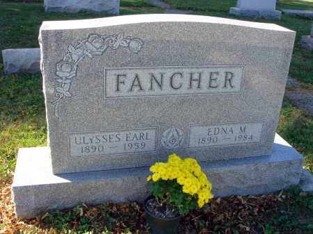 FANCHER, EDNA M. - Fairfield County, Ohio | EDNA M. FANCHER - Ohio Gravestone Photos