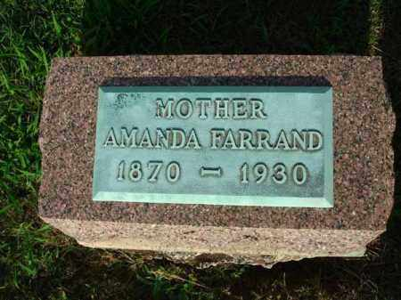 FARRAND, AMANDA - Fairfield County, Ohio | AMANDA FARRAND - Ohio Gravestone Photos