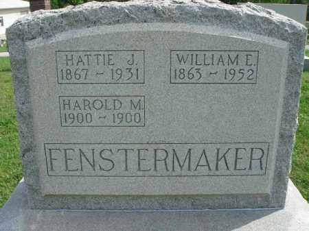 FENSTERMAKER, WILLIAM E. - Fairfield County, Ohio | WILLIAM E. FENSTERMAKER - Ohio Gravestone Photos