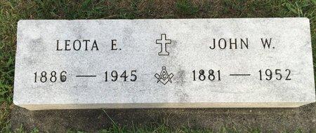 FENSTERMAKER, JOHN W. - Fairfield County, Ohio | JOHN W. FENSTERMAKER - Ohio Gravestone Photos