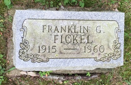 FICKEL, FRANKLIN G. - Fairfield County, Ohio | FRANKLIN G. FICKEL - Ohio Gravestone Photos