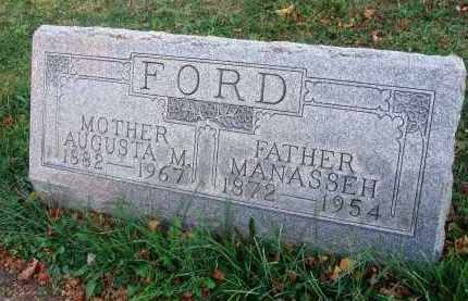 FORD, MANASSEH - Fairfield County, Ohio | MANASSEH FORD - Ohio Gravestone Photos