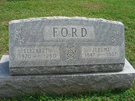 FORD, ELIZABETH - Fairfield County, Ohio | ELIZABETH FORD - Ohio Gravestone Photos