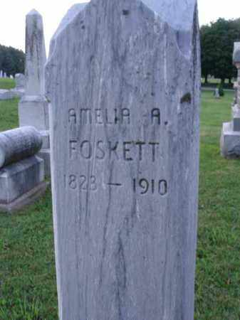 FOSKETT, AMELIA A. - Fairfield County, Ohio | AMELIA A. FOSKETT - Ohio Gravestone Photos