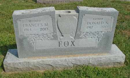 FOX, DONALD N. - Fairfield County, Ohio | DONALD N. FOX - Ohio Gravestone Photos