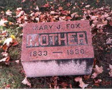 FOX, MARY J. - Fairfield County, Ohio | MARY J. FOX - Ohio Gravestone Photos