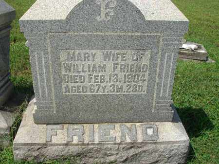 FRIEND, MARY - Fairfield County, Ohio | MARY FRIEND - Ohio Gravestone Photos