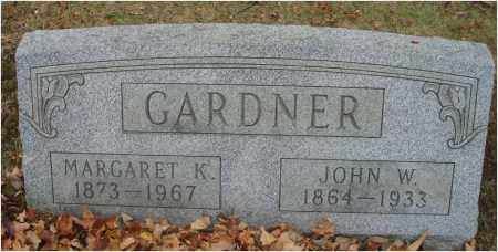 GARDNER, MARGARET K. - Fairfield County, Ohio | MARGARET K. GARDNER - Ohio Gravestone Photos