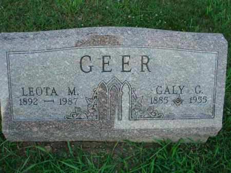 GEER, GALY G. - Fairfield County, Ohio | GALY G. GEER - Ohio Gravestone Photos
