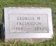 GEORGIA M, FAUSNAUGH - Fairfield County, Ohio | FAUSNAUGH GEORGIA M - Ohio Gravestone Photos