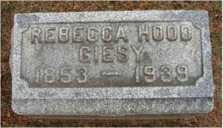 HOOD GIESY, REBECCA - Fairfield County, Ohio | REBECCA HOOD GIESY - Ohio Gravestone Photos