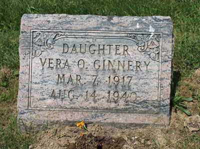 GINNERY, VERA - Fairfield County, Ohio | VERA GINNERY - Ohio Gravestone Photos