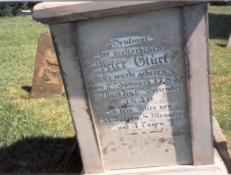 GLICK, PETER - Fairfield County, Ohio | PETER GLICK - Ohio Gravestone Photos
