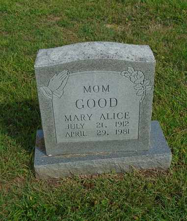GOOD, MARY ALICE - Fairfield County, Ohio | MARY ALICE GOOD - Ohio Gravestone Photos