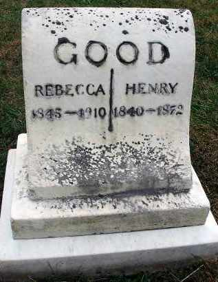 GOOD, REBECCA - Fairfield County, Ohio | REBECCA GOOD - Ohio Gravestone Photos