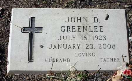 GREENLEE, JOHN D. - Fairfield County, Ohio | JOHN D. GREENLEE - Ohio Gravestone Photos