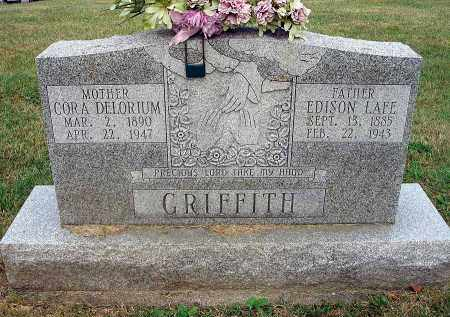 DELORIUM GRIFFITH, CORA - Fairfield County, Ohio | CORA DELORIUM GRIFFITH - Ohio Gravestone Photos