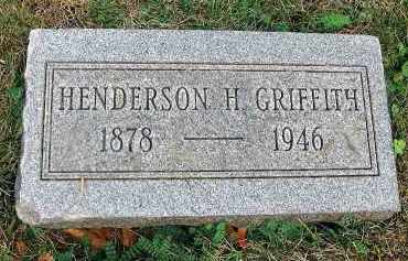 GRIFFITH, HENDERSON H. - Fairfield County, Ohio | HENDERSON H. GRIFFITH - Ohio Gravestone Photos