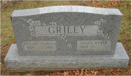 GRILEY, RICHARD FRANKLIN - Fairfield County, Ohio | RICHARD FRANKLIN GRILEY - Ohio Gravestone Photos