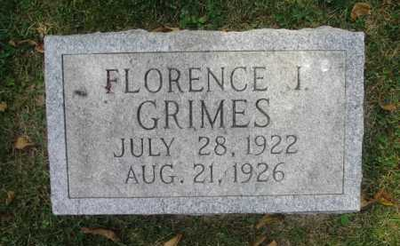 GRIMES, FLORENCE J - Fairfield County, Ohio | FLORENCE J GRIMES - Ohio Gravestone Photos