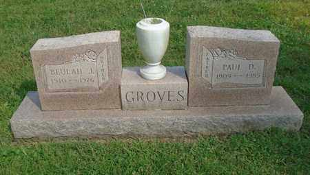 GROVES, BEULAH J. - Fairfield County, Ohio | BEULAH J. GROVES - Ohio Gravestone Photos
