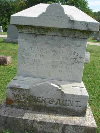 GRUBBS, MATILDA - Fairfield County, Ohio | MATILDA GRUBBS - Ohio Gravestone Photos