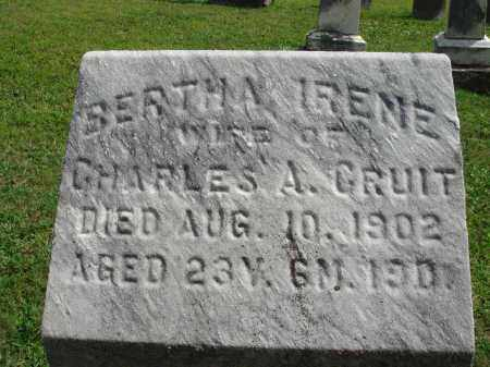 GRUIT, BERTHA IRENE - Fairfield County, Ohio | BERTHA IRENE GRUIT - Ohio Gravestone Photos
