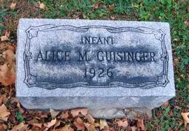GUISINGER, ALICE M. - Fairfield County, Ohio | ALICE M. GUISINGER - Ohio Gravestone Photos