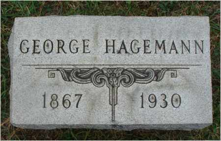HAGEMANN, GEORGE - Fairfield County, Ohio | GEORGE HAGEMANN - Ohio Gravestone Photos