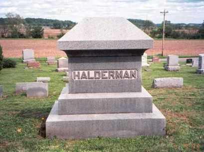 HALDERMAN, MONUMENT - Fairfield County, Ohio | MONUMENT HALDERMAN - Ohio Gravestone Photos