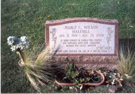 WILSON HALFHILL, MABLE C. - Fairfield County, Ohio | MABLE C. WILSON HALFHILL - Ohio Gravestone Photos