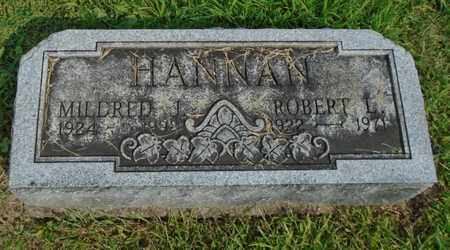 HANNAN, ROBERT L. - Fairfield County, Ohio | ROBERT L. HANNAN - Ohio Gravestone Photos