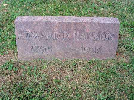 HANNON, EDWARD D. - Fairfield County, Ohio | EDWARD D. HANNON - Ohio Gravestone Photos
