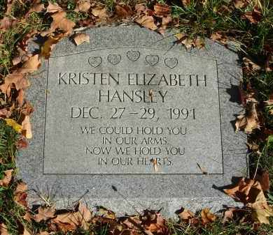 HANSLEY, KRISTEN ELIZABETH - Fairfield County, Ohio | KRISTEN ELIZABETH HANSLEY - Ohio Gravestone Photos