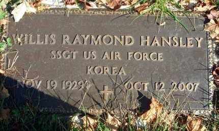 HANSLEY, WILLIS RAYMOND - Fairfield County, Ohio | WILLIS RAYMOND HANSLEY - Ohio Gravestone Photos
