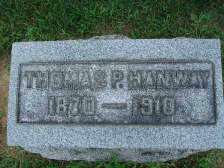HANWAY, THOMAS P. - Fairfield County, Ohio | THOMAS P. HANWAY - Ohio Gravestone Photos