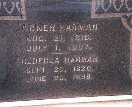 HARMAN, ABNER - Fairfield County, Ohio | ABNER HARMAN - Ohio Gravestone Photos