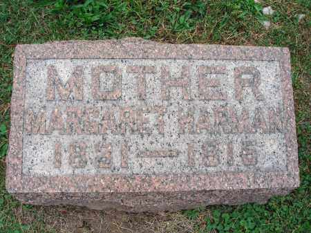 HARMAN, MARGARET - Fairfield County, Ohio | MARGARET HARMAN - Ohio Gravestone Photos