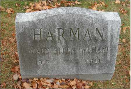 WYMAN HARMAN, MARY ELLEN - Fairfield County, Ohio | MARY ELLEN WYMAN HARMAN - Ohio Gravestone Photos