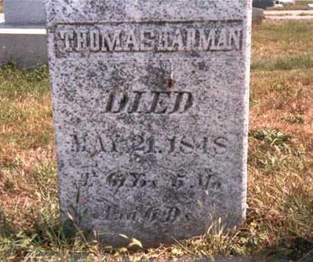 HARMAN, THOMAS - Fairfield County, Ohio | THOMAS HARMAN - Ohio Gravestone Photos