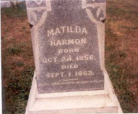 HARMON, MATILDA - Fairfield County, Ohio | MATILDA HARMON - Ohio Gravestone Photos