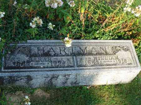 HARTMAN, SARAH - Fairfield County, Ohio | SARAH HARTMAN - Ohio Gravestone Photos