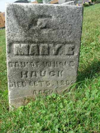 HAUCK, MARY E. - Fairfield County, Ohio | MARY E. HAUCK - Ohio Gravestone Photos
