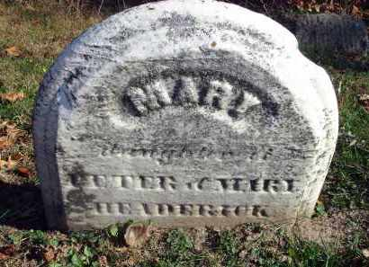 HEDRICK, MARY - Fairfield County, Ohio | MARY HEDRICK - Ohio Gravestone Photos
