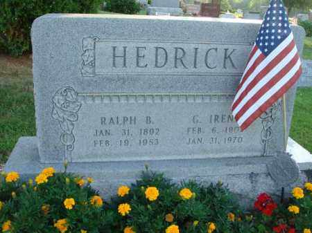 HEDRICK, RALPH B. - Fairfield County, Ohio | RALPH B. HEDRICK - Ohio Gravestone Photos