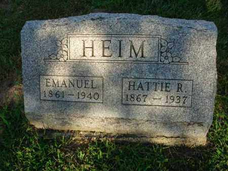 HEIM, HATTIE R. - Fairfield County, Ohio | HATTIE R. HEIM - Ohio Gravestone Photos