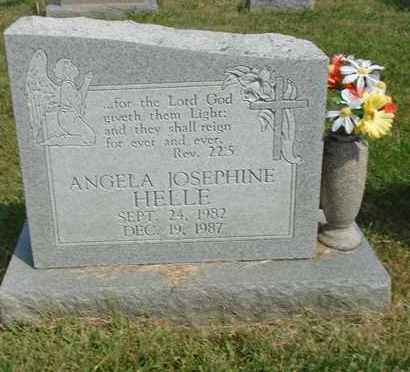 HELLE, ANGELA JOSEPHINE - Fairfield County, Ohio | ANGELA JOSEPHINE HELLE - Ohio Gravestone Photos